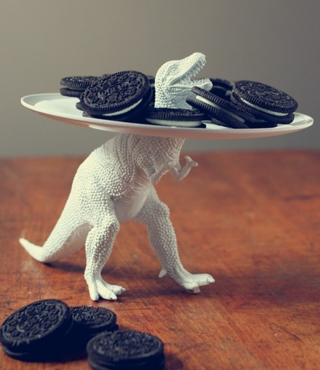 Dinosaur Cookie Plate Upcycle