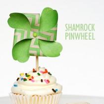 St Patrick's Day Pinwheel