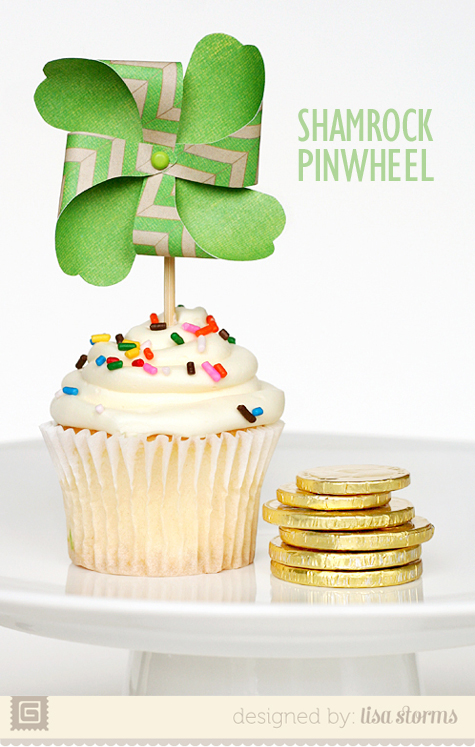 St Patricks Day Craft - Pinwheel