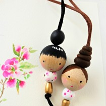 Wooden Bead Doll Necklace