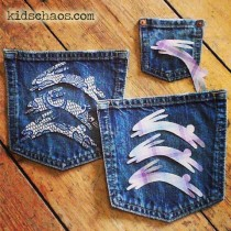 denim pocket purse FREE printable