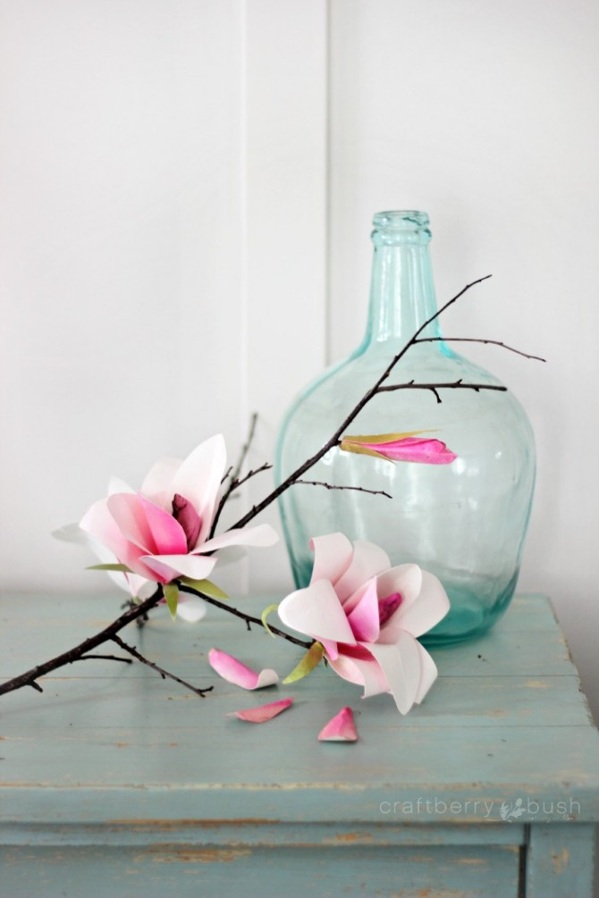 Paper Magnolia Flower How To