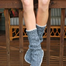 DIY Sweater Slipper Socks