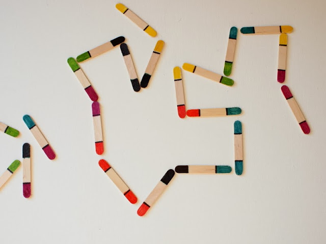 DIY Toddler Craft Stick Dominos 3