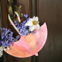 Paper Plate Umbrellas for May Day