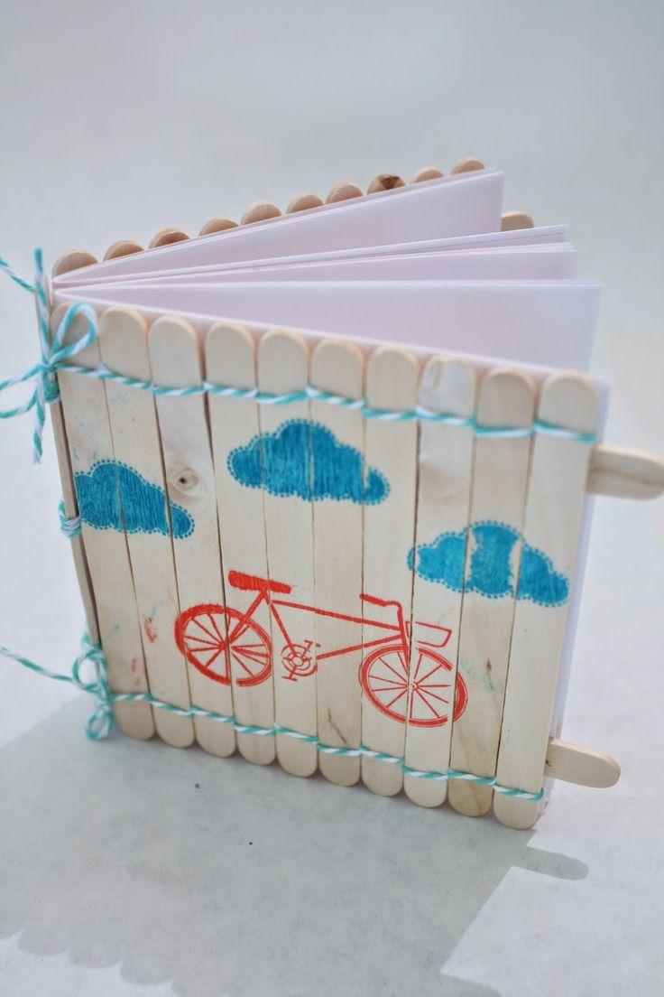 Popsicle stick notebook