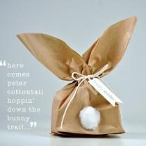 Simple Bunny Gift Wrap Idea – Paper Bag