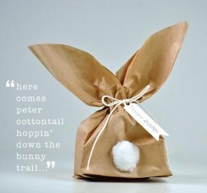 bunny gift bag - paper bags