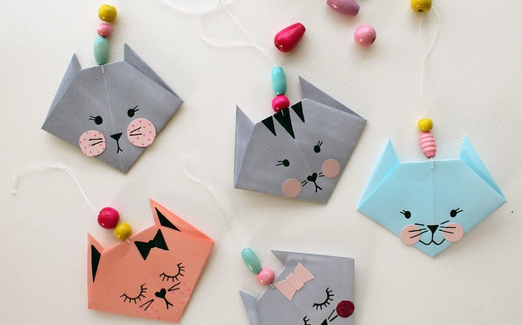 How to make an easy origami cat fun crafts kids for Easy things to make out of paper