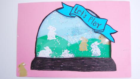 snowglobe postcards