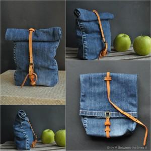 Denim upcycled bag