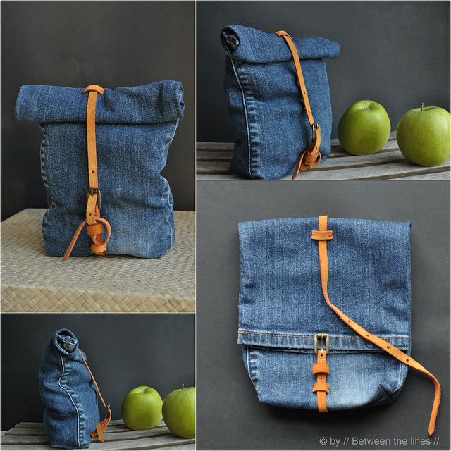 Denim upcycled bag