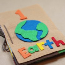 Earth Day Felt Book and Counting Book