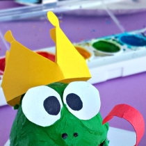 Egg Carton Frog Prince Craft