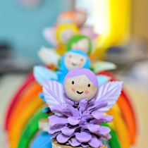 Pine Cone Rainbow Fairy Crafts
