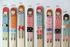 washi tape ideas -puppets