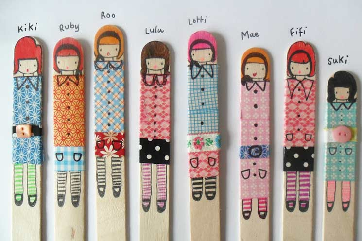 Washi Tape Ideas Puppets