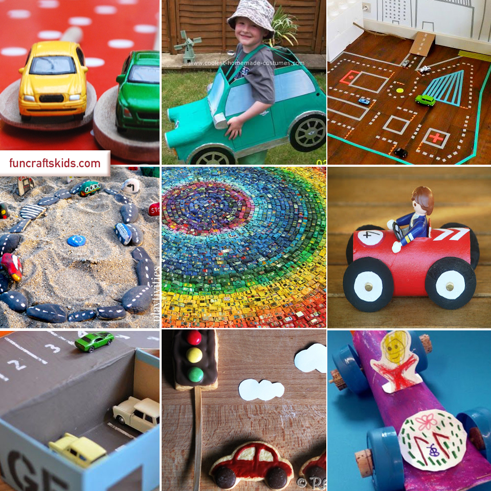 10 Car Crafts Round Up Fun Crafts Kids