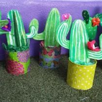 Tin Can & Cardboard Cactus Craft