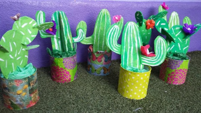 Tin Can & Cardboard Cactus Craft