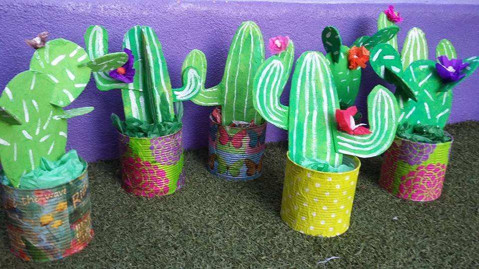 Tin Can Cardboard Cactus Craft Fun Crafts Kids