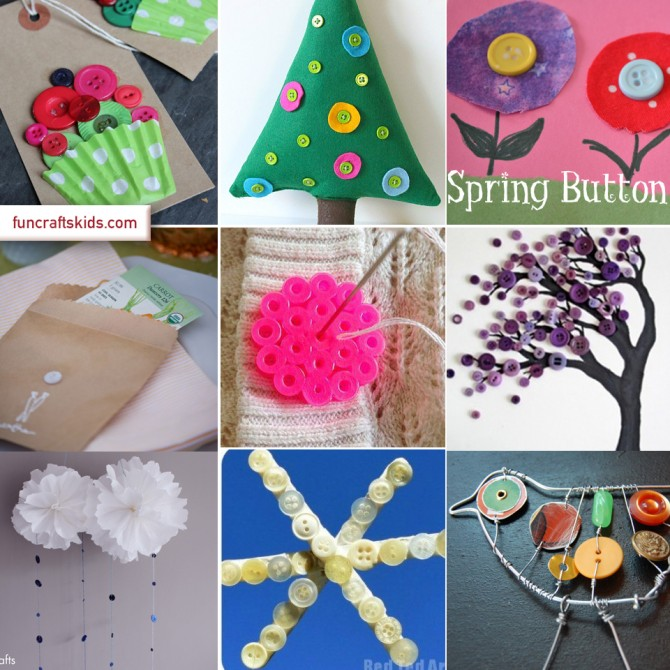 Button Craft Ideas For Kids Part - 45: 12 Button Craft Ideas