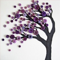 DIY Button Art Tree