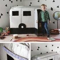 DIY cardboard Airstream caravan