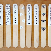 Craft Stick Garden Plant Markers