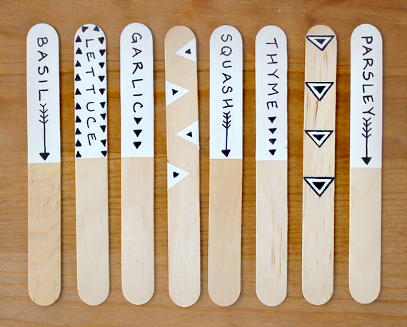 Easy Craft Stick Garden Plant Markers