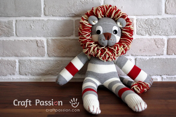 Sock Lion Pattern