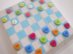 button crafts - checkers
