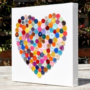 button heart canvas