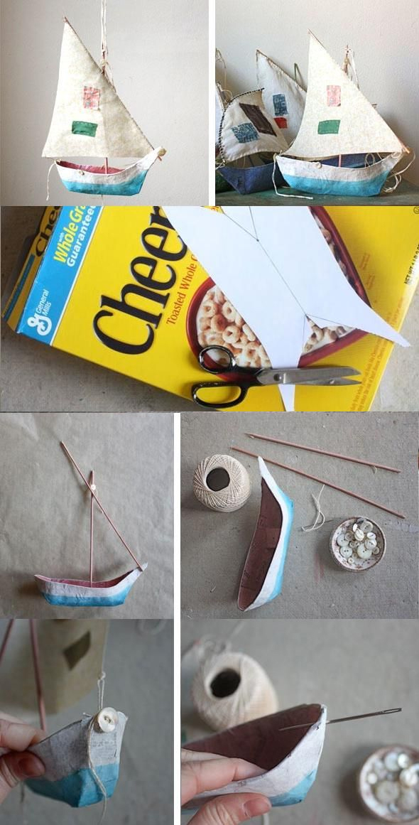 Cereal Box Boat
