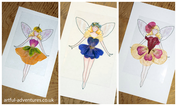 flower crafts - flower girl fairies