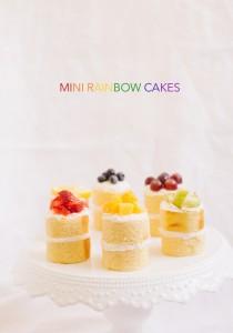 rainbow mini cakes