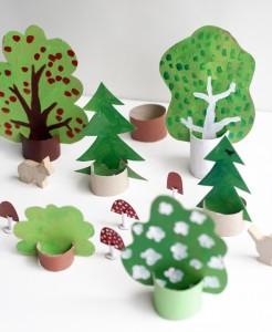 cardboard forest
