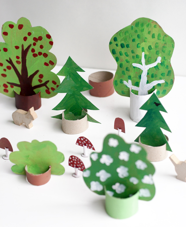Cardboard Forest Fun Crafts Kids
