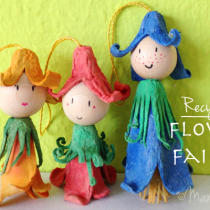 Egg Carton Fairy Dolls