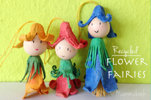 egg carton fairy doll crafts