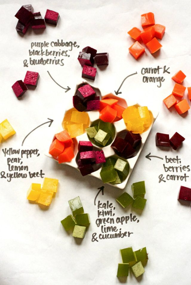 healthy DIY Gummy snack - made from fruit and vegetables