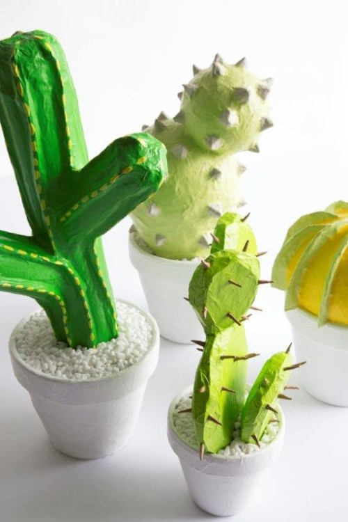 paper mache craft ideas papier mache cactus craft crafts 5100