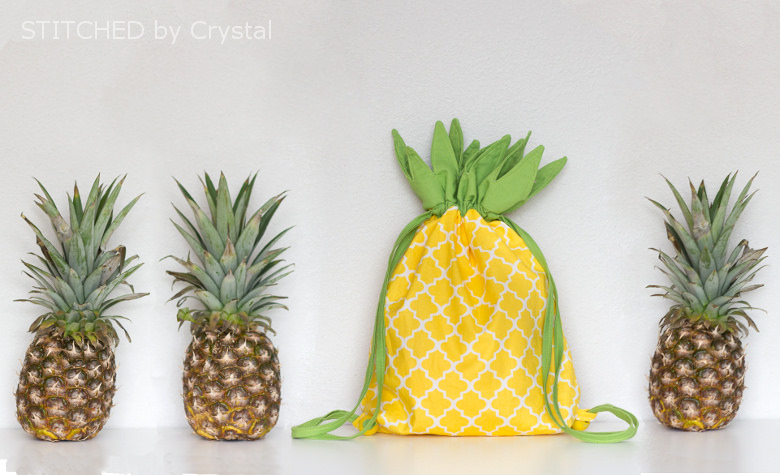 DIY Pineapple Drawstring Bag