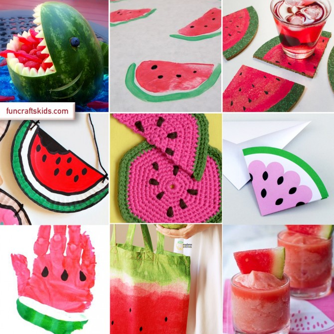 12 fabulous water melon crafts