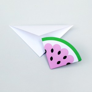 watermelon note card