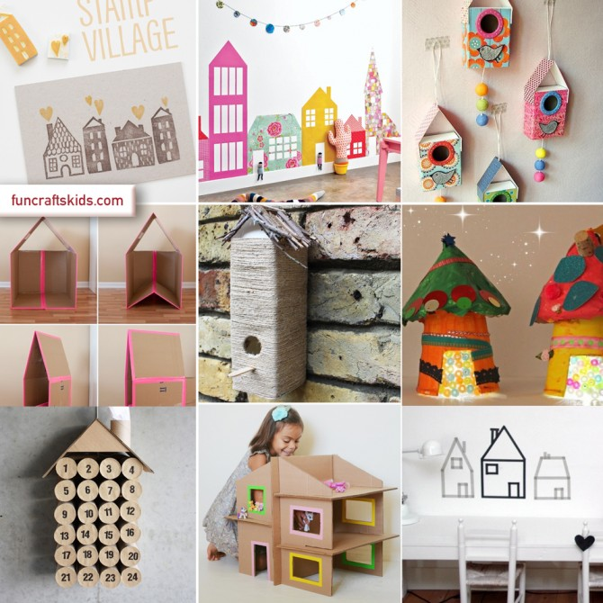 House themed crafts round up