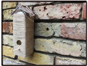 carton bird house