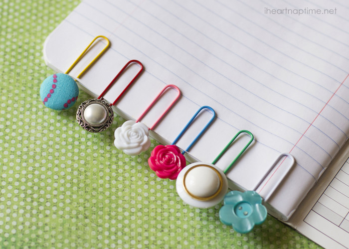 button bookmark Crafts