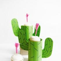 cactus cupcake stand printable
