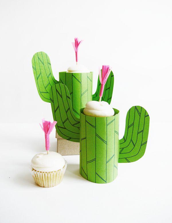 cactus cupcake stand